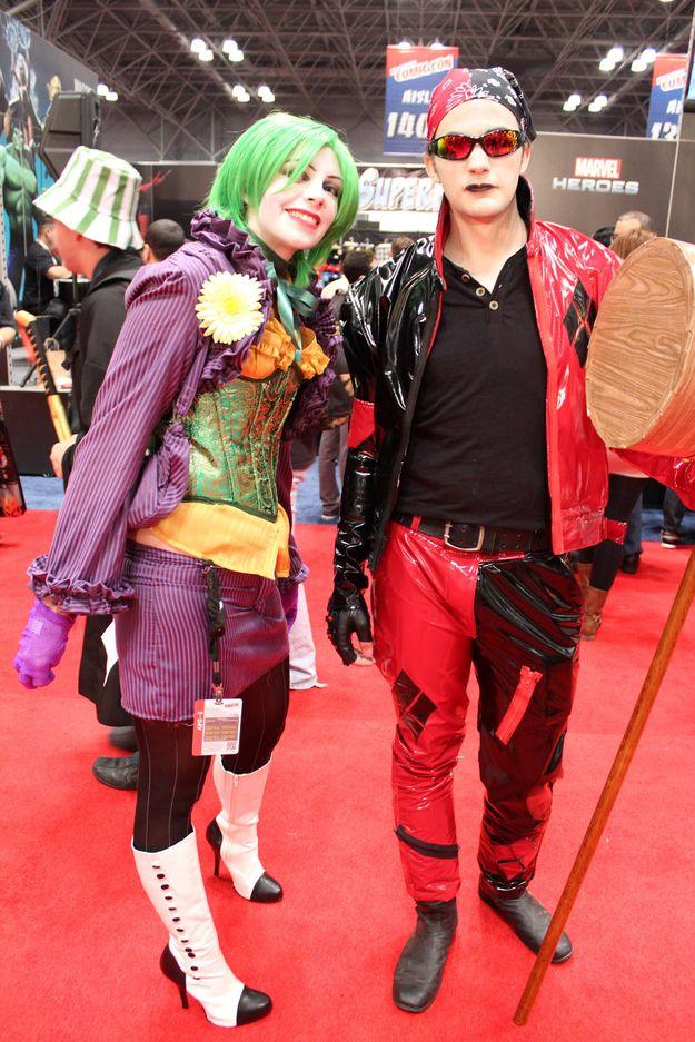 Lady Joker and Man Harley NYCC 2012