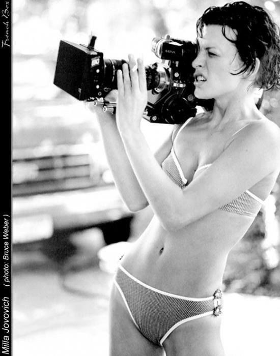 Mila Jovovich photographed by Bruce Weber