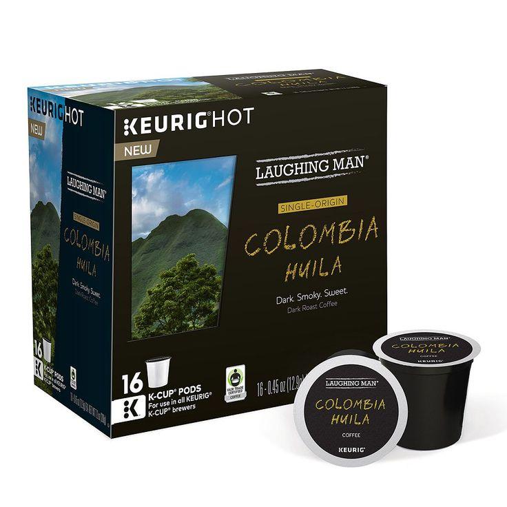 Keurig® K-Cup® Pod Laughing Man Columbia Huila Dark Roast Coffee - 16-pk., Multicolor