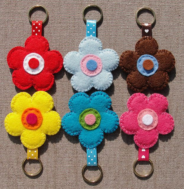 Felt Keychains  Made by BeaG, via Flickr