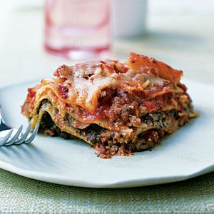 Slow-Cooker Pesto Lasagna with Spinach and Mushrooms | CookingLight.com