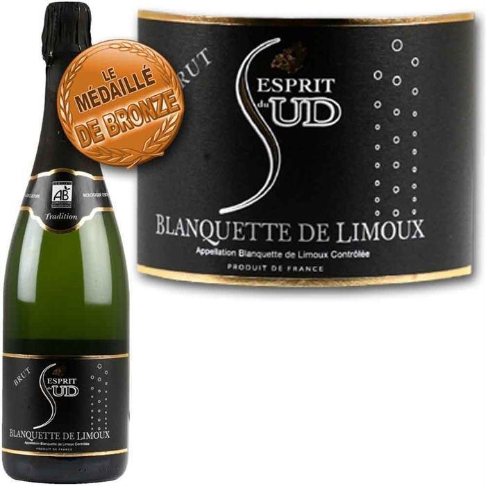Esprit du Sud Blanquette de Limoux Bio - Achat / Vente PETILLANT-MOUSSEUX Esprit du Sud - Cdiscount.com