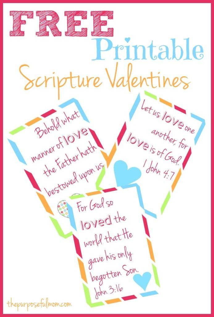 Free Printable Scripture Valentines Free Printable