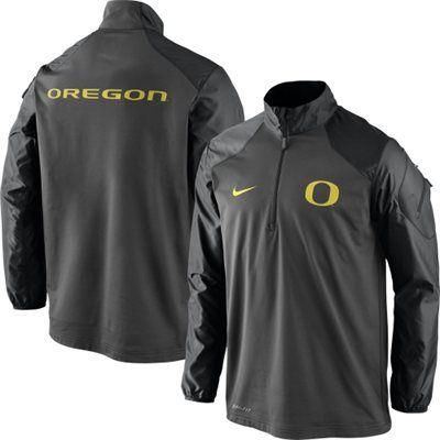Oregon Ducks Nike Coaches Sideline Half Zip Performance Jacket – Anthracite