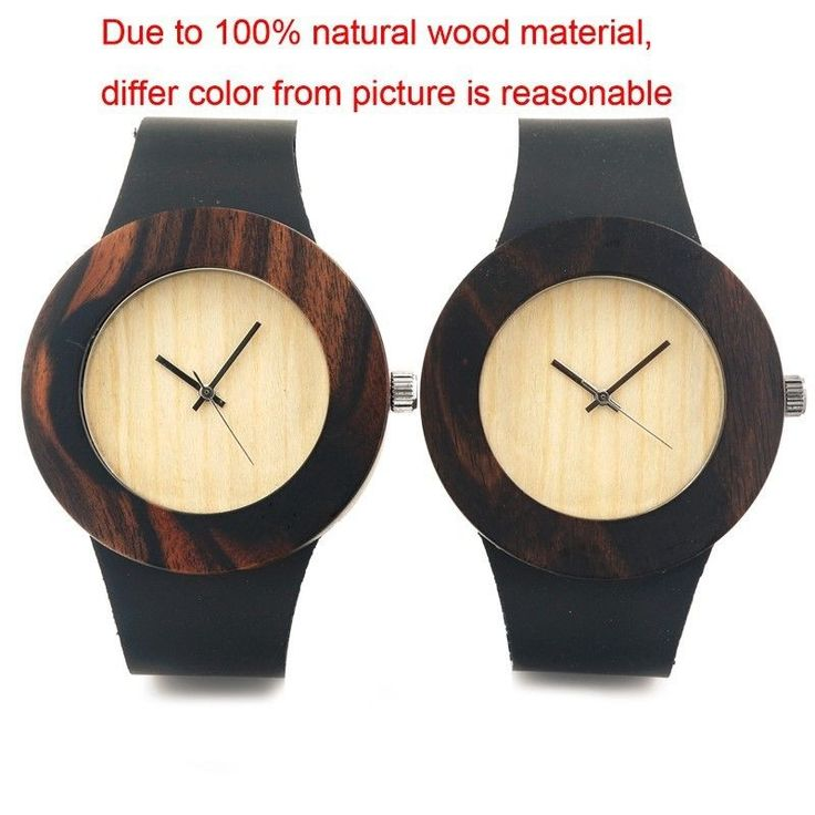 Wooden Wrist Watches with Genuine Leader Band Japan Quartz Wood Watches for Men   | eBay