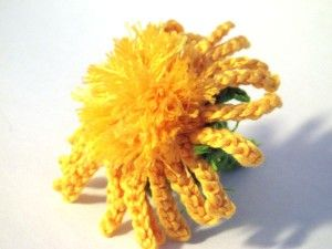 *AWESOME* CROCHET flower PATTERNS (Flower Crochet Pattern #90 Carline Thistle - actually wd make a perfect dandelion!)