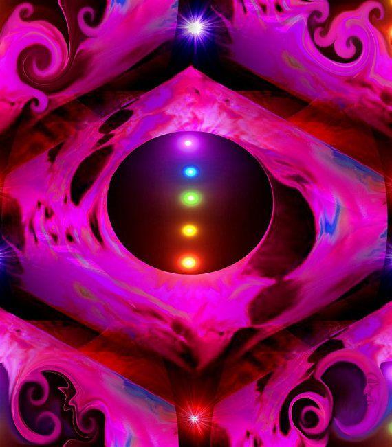 Abstract Art Chakra Energy Art Digital Painting by primalpainter, $20.00