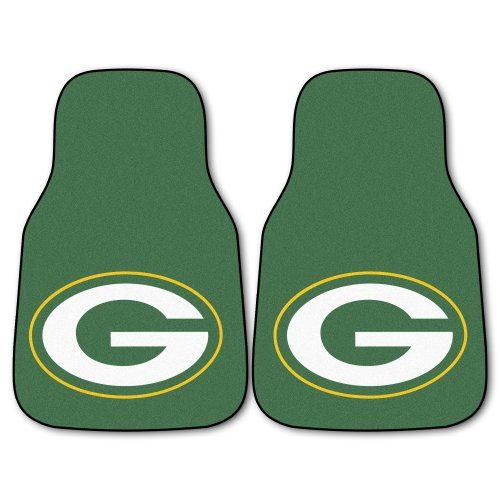 FANMATS NFL Green Bay Packers Nylon Face Carpet Car Mat. For product info go to:  https://www.caraccessoriesonlinemarket.com/fanmats-nfl-green-bay-packers-nylon-face-carpet-car-mat/