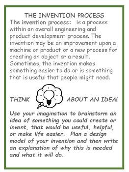 Inspire your students to invent a useful product by reading Young Thomas Edison by Michael Dooling and then brainstorming ideas.  They will design their invention and write about its purpose. A fun activity that pairs well with the study of Thomas Edsion as a biography genre study.