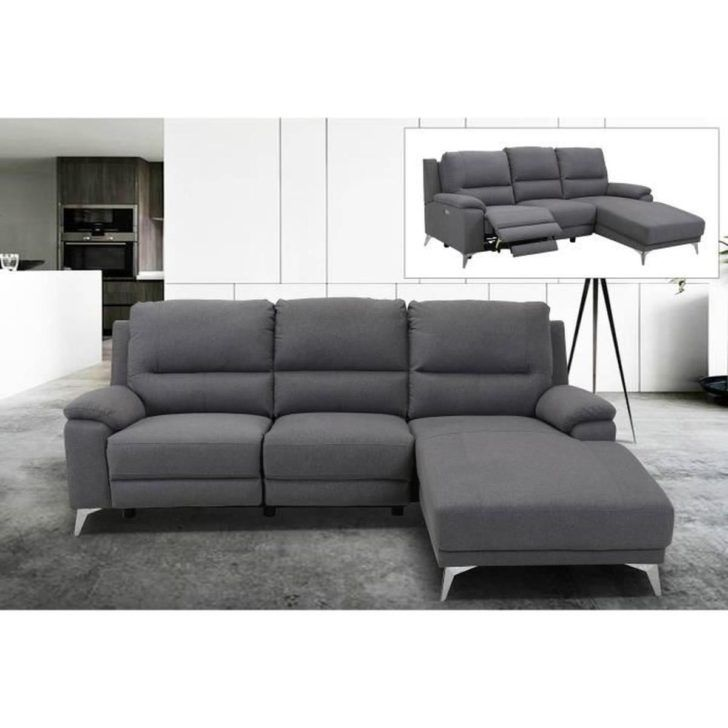 Interior Design Canape Angle Relax Canape Angle Relax Electrique En Tissu Gris Avec Meridienne A Droite Canape Electrique Sectional Couch Furniture Home Decor
