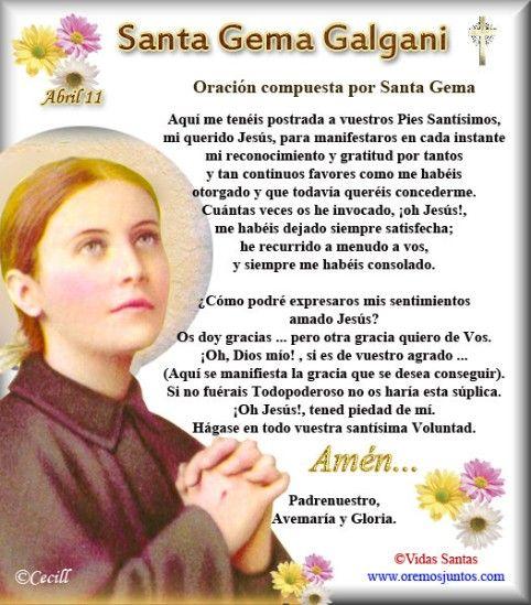 Oración de Santa Gema - Santa Gema