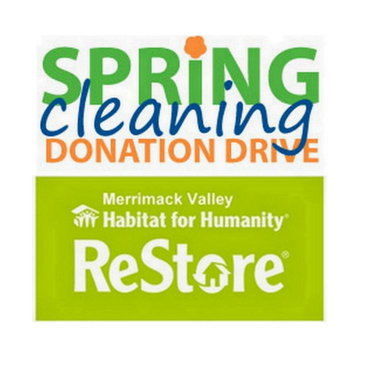 It is SPRING and that means Spring Cleaning Donation Drive at the Merrimack Valley Habitat for Humanity ReStore! Donate your gently used items to us - a great cause. #MVReStore #MVHH #HabitatForHumanity