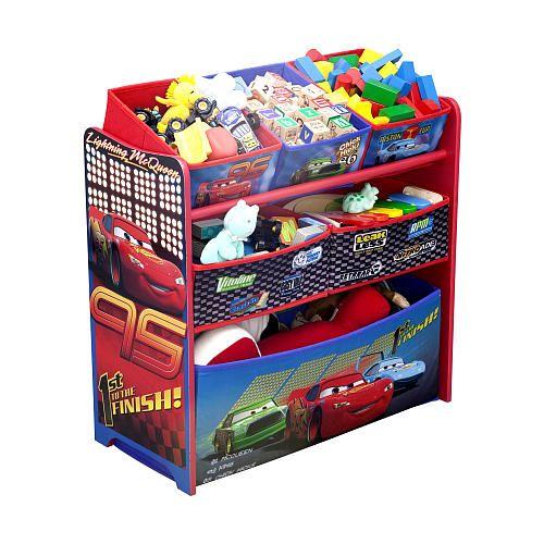 disney pixar cars 2 6 bin toy organizer delta furniture fao