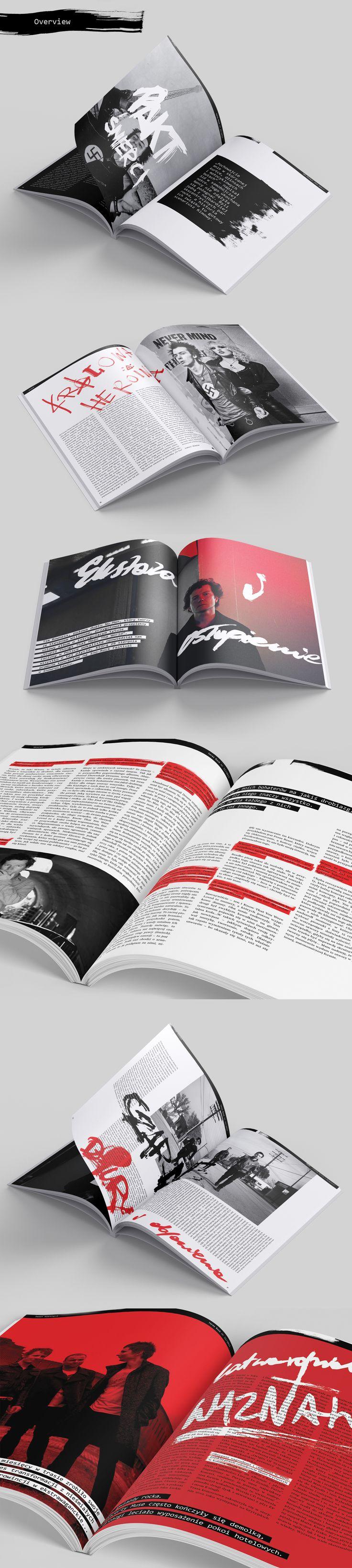 """Redesign kultowego muzycznego magazynu """"Teraz Rock"""" wykonany w ramach zajęć w Pracowni Grafiki Edytorskiej ASP Katowice. Projekt miał nawiązywać do estetyki projektowania lat 90-tych z kultowym magazynem """"Raygun"""" na czele."""