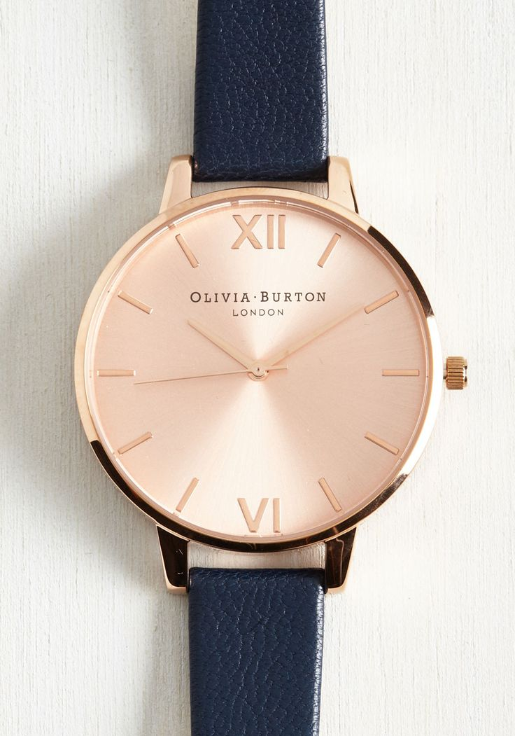 Bracelets & Watches - Undisputed Class Watch in Navy & Rose Gold - Big