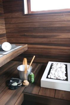This is the colour wood we would love for the sauna room.