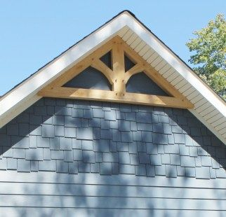 Timberframe gable accent