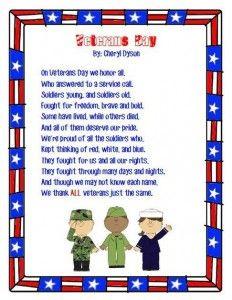 Happy Veterans Poems Thank You