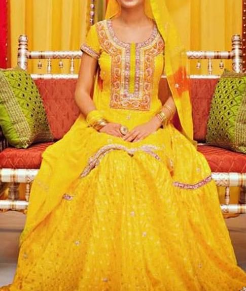 hot pink and green mehndi outfits - Google Search