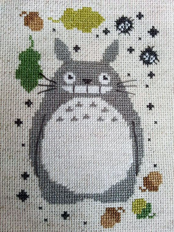Soot Sprites and Totoro Cross Stitch Pattern by Stitchynova
