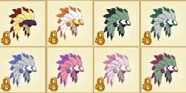The non rare headdress which came out during the end of fall till the early winter of 2010 is worth: Rare long black spike collar, and another long spike collar. A good unreleased item (You may want to add to released item) they are also worth beta tiki masks.