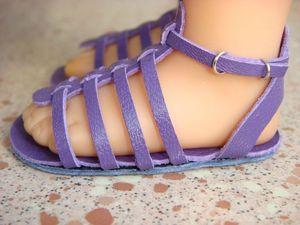 Tropéziennes violettes (3)  Tutorial on making these sandals