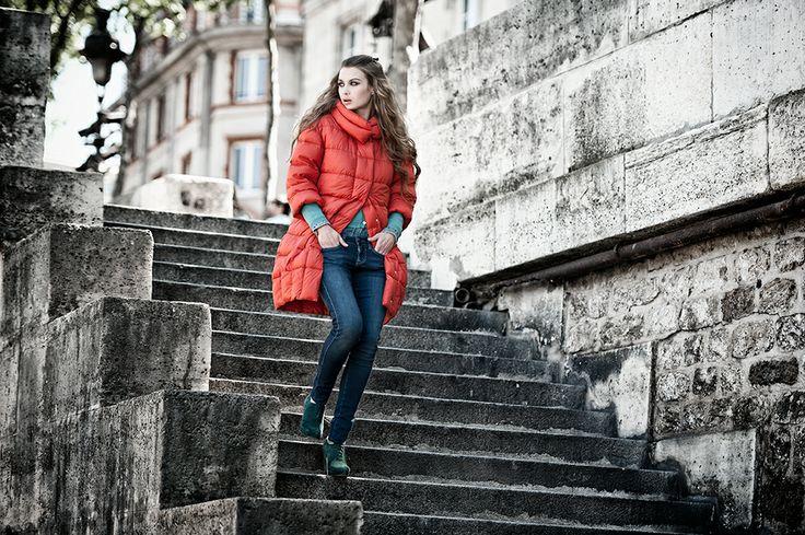 #fall #winter #collection cstudio #paris #fashion #girl #red #coat #jacket