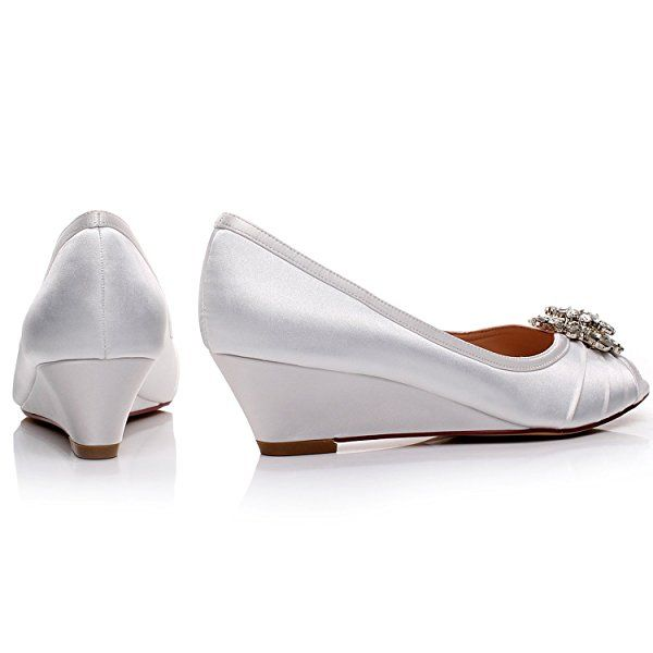 73 best LUXVEER Low Heel Wedding Wedges - 2 inch 4.5cm images on ...