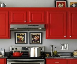 Nice Red Kitchen Cabinets kitchen cabinets Find This Pin And More On Kitchen Dreams Kitchen Dream Red Cabinets