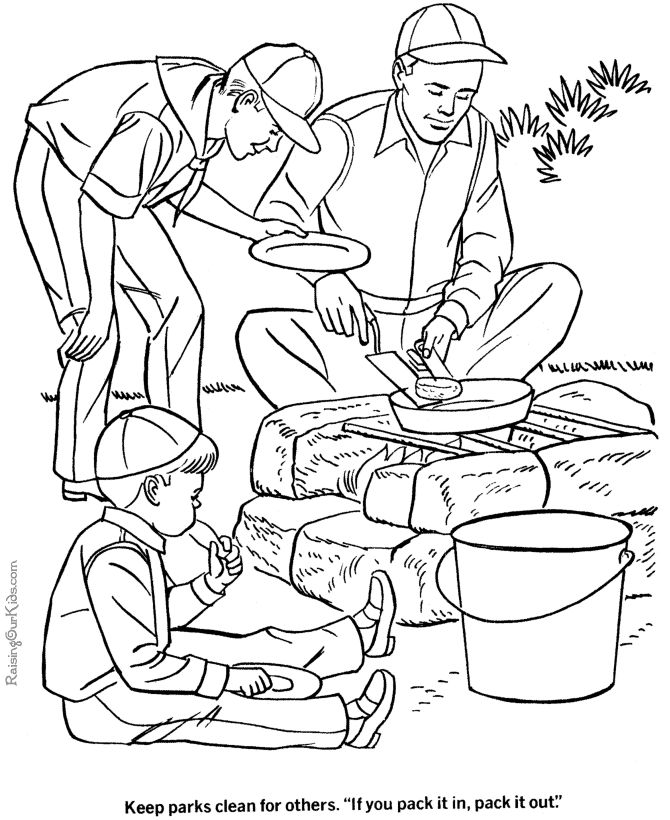 summer camp coloring pages - photo#30
