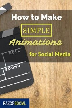 How to Make simple animations for social media posts. Movement captures more attention for your business! http://www.razorsocial.com/how-to-make-simple-animations/