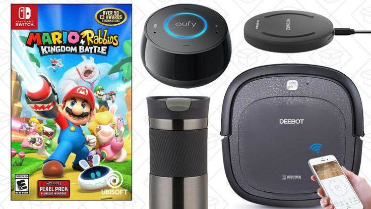 A trio of robotic vacuums, Anker's new Echo Dot alternative, and the last chance to save 20% on Mario + Rabbids Kingdom Battle lead off Monday's best deals from around the web.     Today's Best Lifestyle Deals: ModCloth, Journelle, Stila Cosmetics, Target Beauty Boxes, and...-http://trb.zone/todays-best-deals-robotic-vacuum-30-alexa-speaker-mario-rabbids-and-more.html