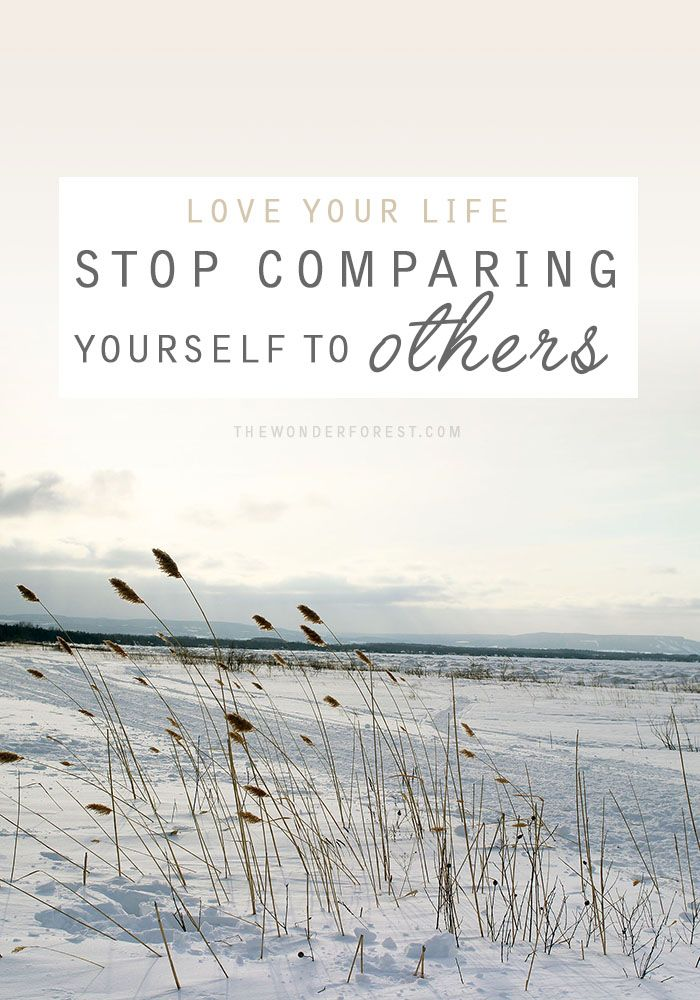 Love Your Life: Stop Comparing Yourself to Others | Wonder Forest: Design Your Life.