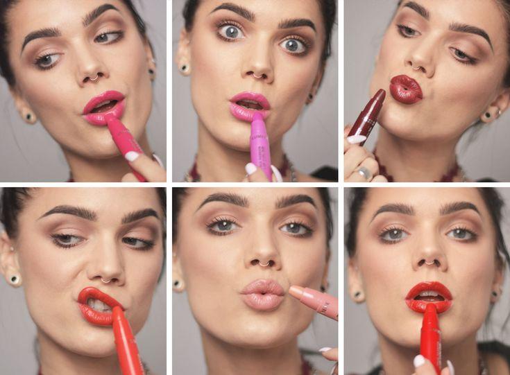 Blogger Linda Hallberg wearing Lumene True Passion Lip Color in six intensive shades. Wow!
