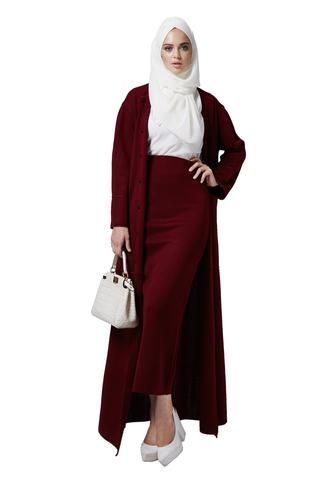 Occasion knitted open front designer modern abaya