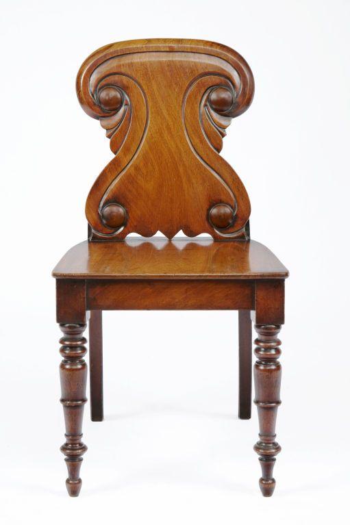 William IV Mahogany Hall Chair, O'Sullivan Antiques