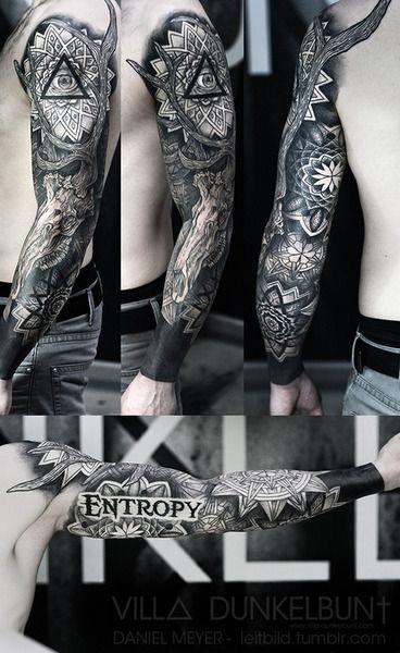 fuckyeahtattoos:   Entropy Sleeve by Daniel Meyer @ VILL∆ DUNKELBUN†