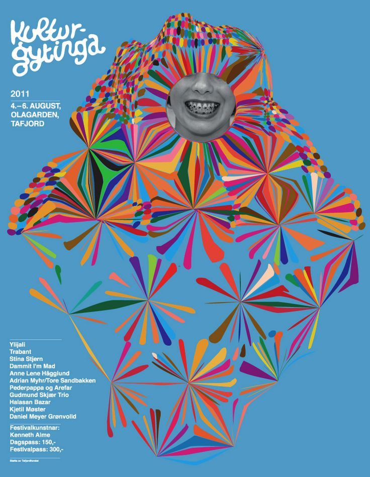 "Poster - ""kulturgytinga""  #poster #abstract #pattern #color"