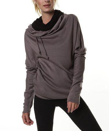 Look at this #zulilyfind! Moondusk Tempo Cowl Neck Sweater by Colosseum #zulilyfinds