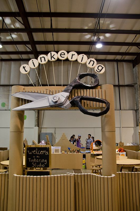 Constructing with cardboard | The Tinkering Studio Blog | Exploratorium