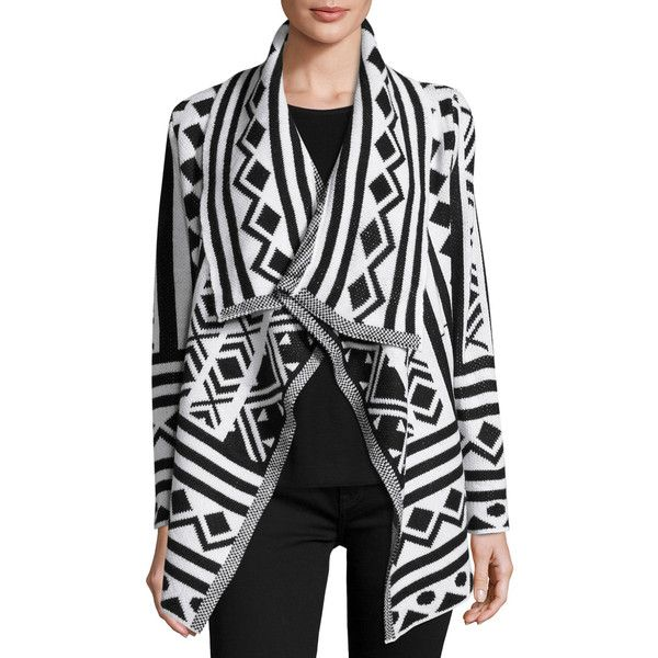 Raga Tribal-Print Open-Front Cardigan ($60) ❤ liked on Polyvore featuring tops, cardigans, black, tribal pattern cardigan, ethnic print cardigan, tribal open front cardigan, tribal cardigan and tribal print open cardigan