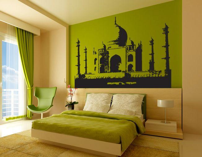 sticker taj mahal d coration indienne d co taj mahal cr ation sur mesure sticker zen gali. Black Bedroom Furniture Sets. Home Design Ideas