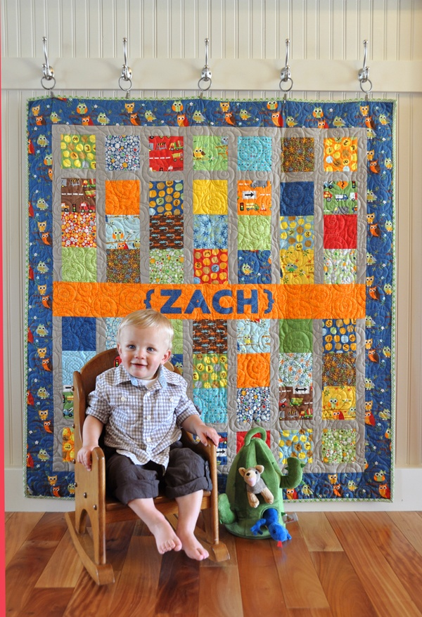 Cute way to hang a quilt