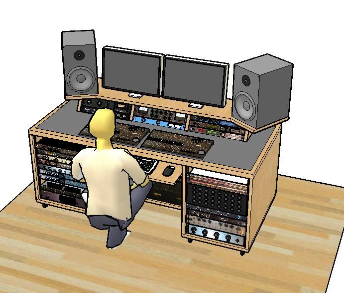 find this pin and more on home music studio ideas - Home Studio Desk Design