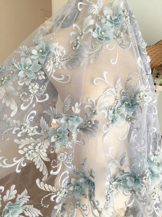 Gold Haute Couture Dress Bridal wedding By Yard Lace Embroidered Fabric