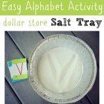 Dollar Store Salt Tray { Alphabet Activity }