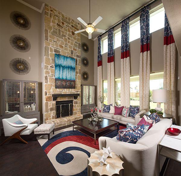 Decorated Model Homes: 81 Best Living Room Design Inspiration Images On Pinterest