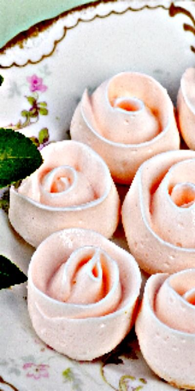 Swiss Meringue Ribbon Rose Cookies for Mother's Day ❊