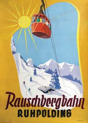 Rauschbergbahn Ruhpolding - 1950 - (Reckling)  -