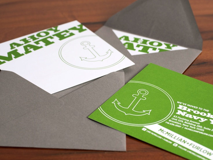 13 best work d2 business card images on pinterest carte de modern green white nautical moving announcements reheart Images